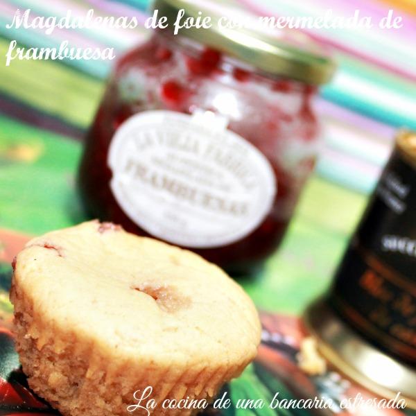 Receta de magdalenas de foie con mermelada de frambuesa