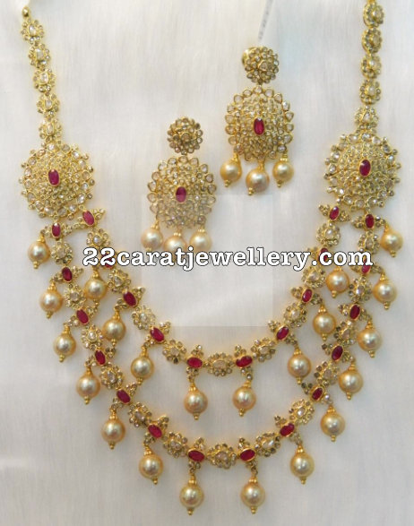 2 Layer Uncut Set by Kothari Jewelry