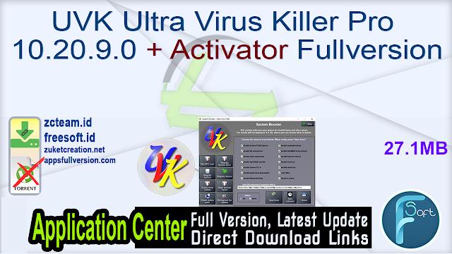 UVK Ultra Virus Killer Pro 10.20.9.0 + Activator Fullversion