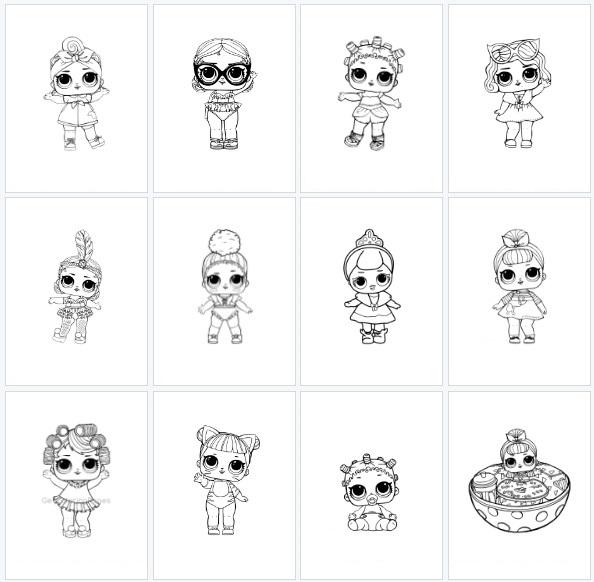 Desenhos para colorir Boneca lol - Como Fazer