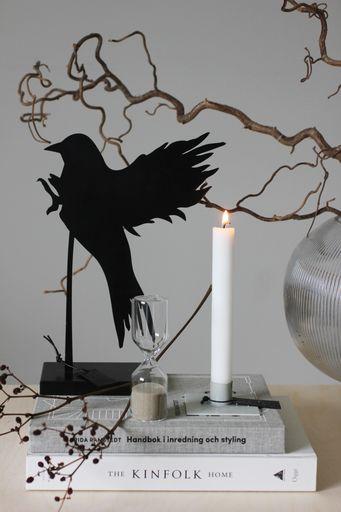 annelies design, webbutik, webbutiker, webshop, nätbutik, inredning, dekoration, fågel, fåglar, siluett, siluetter, ljusstake, square, timglas,