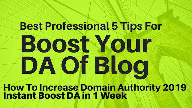 How To Increase Domain Authority 2019