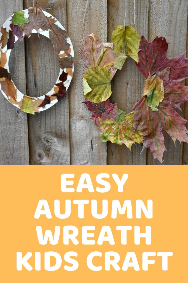 Kids Craft Adorable Autumn Wreaths