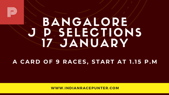 Bangalore Jackpot Selections 17 January, Jackpot Selections by indianracepunter,