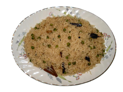 recipe for royal pea casserole aka shahi matar pulao.