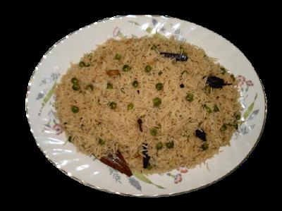 recipe for royal pea casserole aka shahi matar pulao.