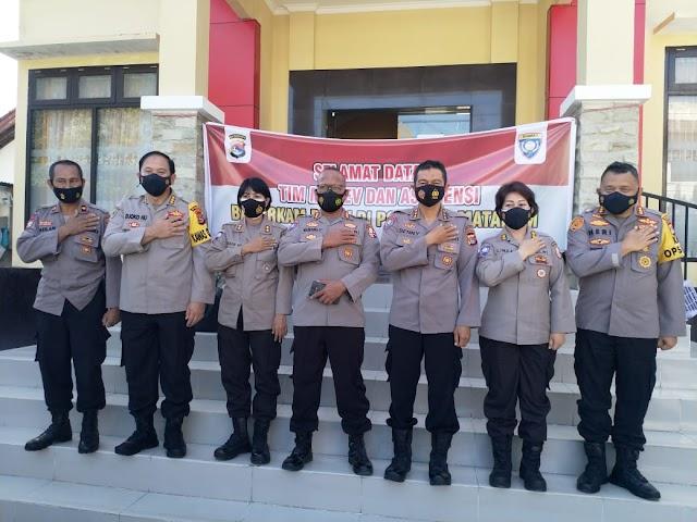 Korbinmas Kabaharkam Polri Kunjungi Posko PPKM Mikro Kelurahan Dasan NTB