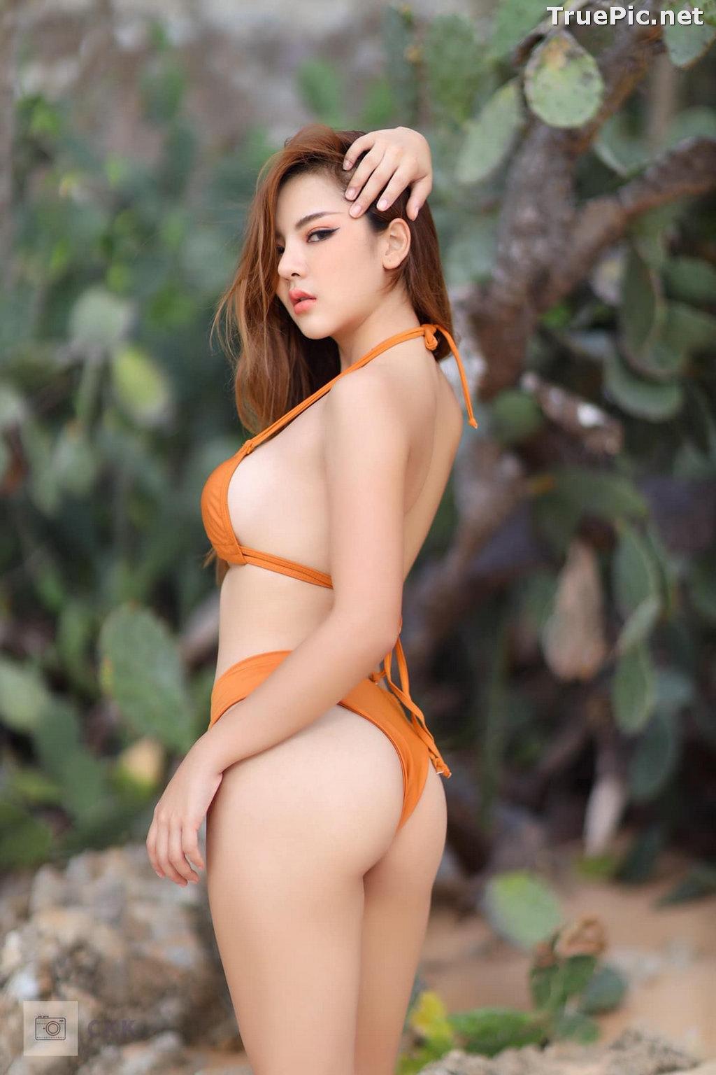 Image Thailand Model - Montakan Kaengraeng - Sexy Orange Bikini - TruePic.net - Picture-1