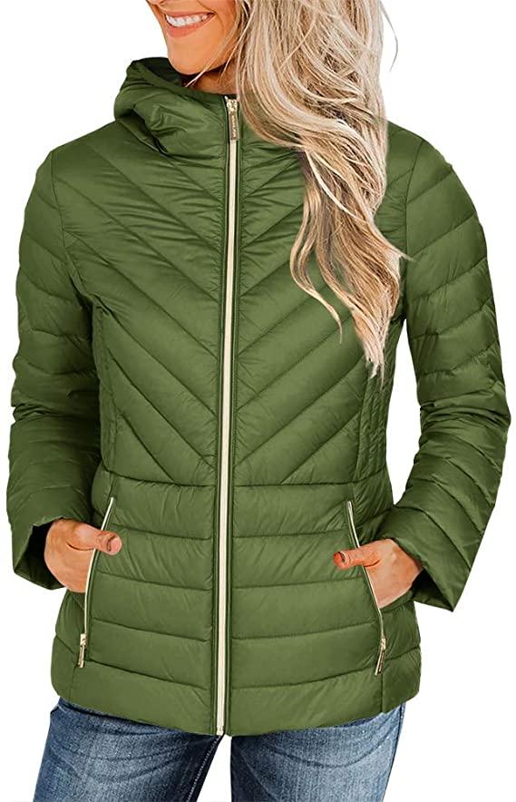50%Off Womens Ultra Light Weight Hooded Short Puffer Coats