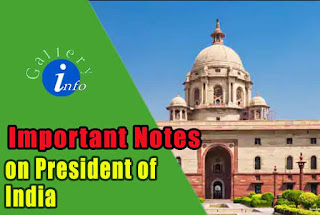 Short note on President of India
