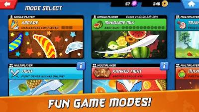 تحميل لعبة الاثارة والمغامرات  Fruit Ninja 2 النسخة المهكرة للاجهزة الاندرويد