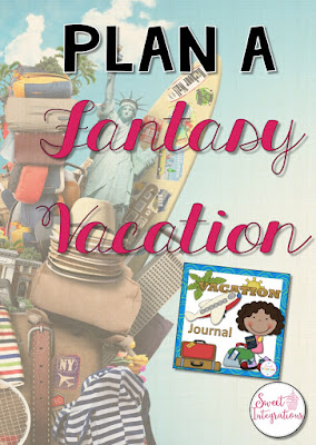 Let your students enjoy this fun PBL writing unit where they plan a fantasy vacation for their family. It's a great end of year or back to school activity!