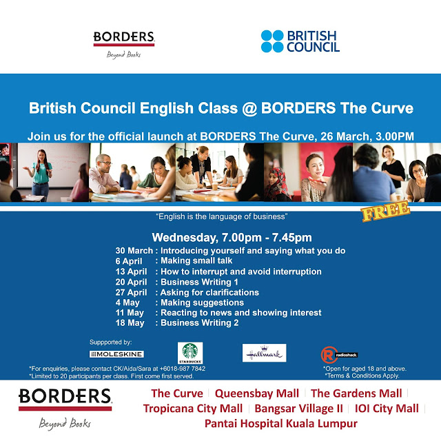 Free English Class at Borders Bookstore