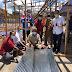 Pertagas Salurkan Bantuan Material untuk Pembangunan Pasar Darurat Lhoktuan