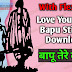 Love You Bebe Bapu Sticker For Bike- Bapu Tere Karke