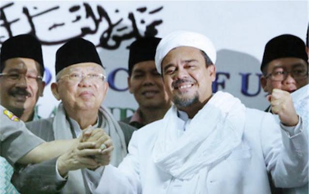 Ma'ruf Amin dan Habib Rizieq Bakal Ketemu