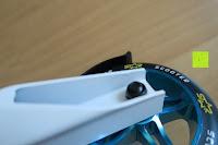 Schraube: STAR-SCOOTER® Premium Freestyle Stuntscooter in stabiler Leichtbauweise ★ Modell 2016 ★ 110mm Semi Professional Edition ★ Weiß (matt) & Blau