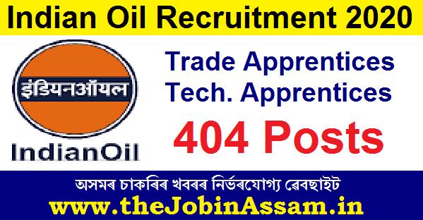 Indian Oil Recruitment 2020
