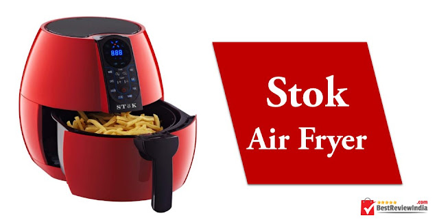 SToK Air Fryer in red colour.