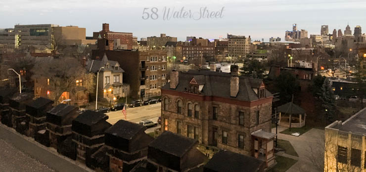 El Moore lodge, Cass Corridor, Detroit, historic building, preservation, city view