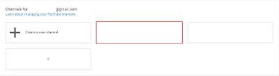 Nantinya akan muncul channel YouTube kalian sekarang, berhubung saya punya 3 channel YouTube dalam 1 akun atau email jadi 3 akun YouTube tersebut akan muncul