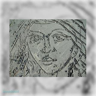 Πορτραίτο Αμμογραφία Κώστα Ευαγγελάτου