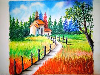 Fancy's Art   Easy Landscape Painting