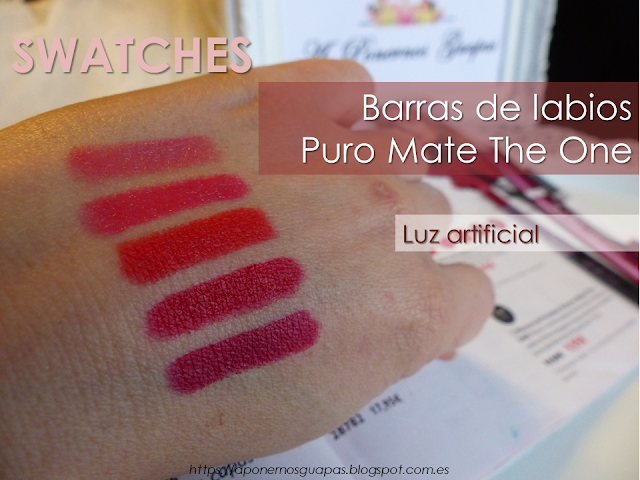 Swatch luz artificial Puro Mate The One Oriflame
