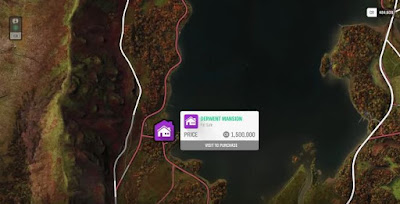 Forza Horizon 4, House Location Map, Derwent Mansion