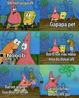 Meme sedih player afk