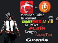 Cara Merubah Paket gamesmax 31 GB ke Paket Flash Telkomsel 2020