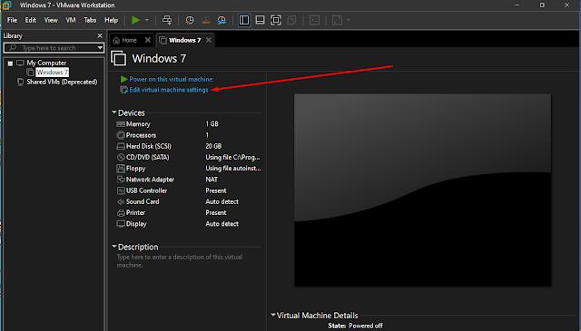 display setting vmware