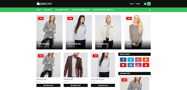 szablony Blogger e-commerce