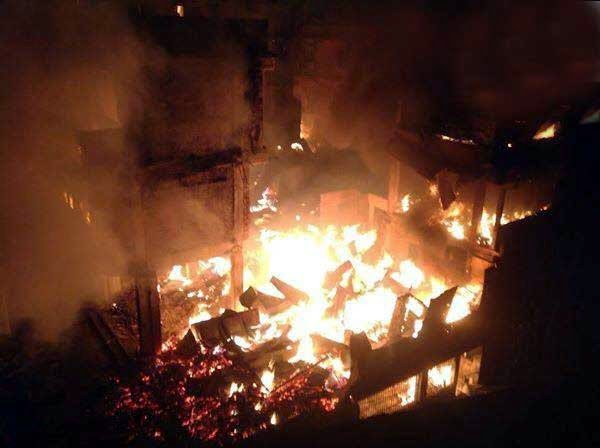Fire in Pedong Haat Bazaar in kalimpong