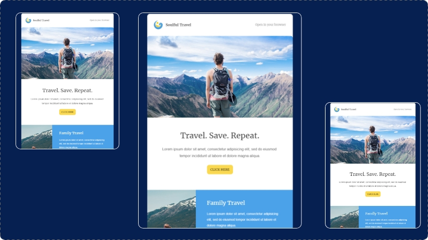 Soulful Travel email template