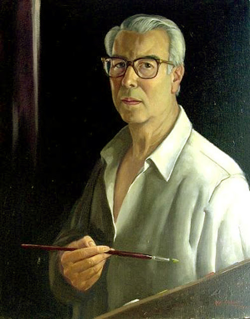 Juan Cordero Ruiz, Self Portrait, Portraits of Painters, Fine arts, Portraits of painters blog, Juan Cordero, Paintings of Juan Cordero Ruiz, Painter Juan Cordero Ruiz