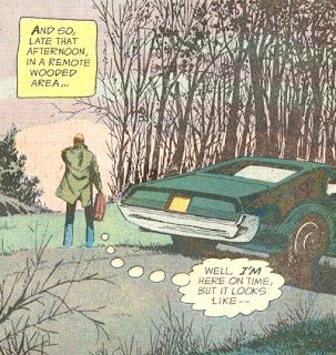 Weird Adventure Comics #436, Jim Corrigan and his car