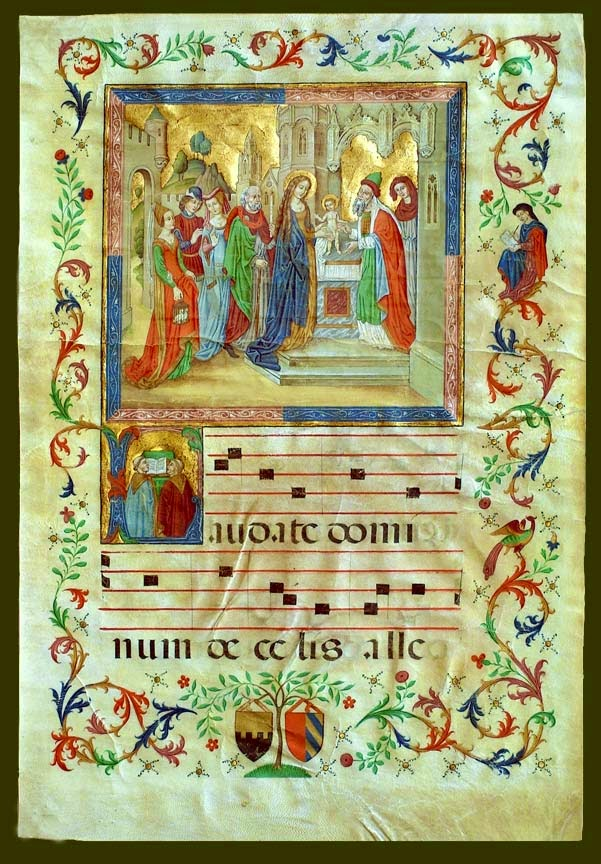 A page of musical notation from a medieval manuscript.