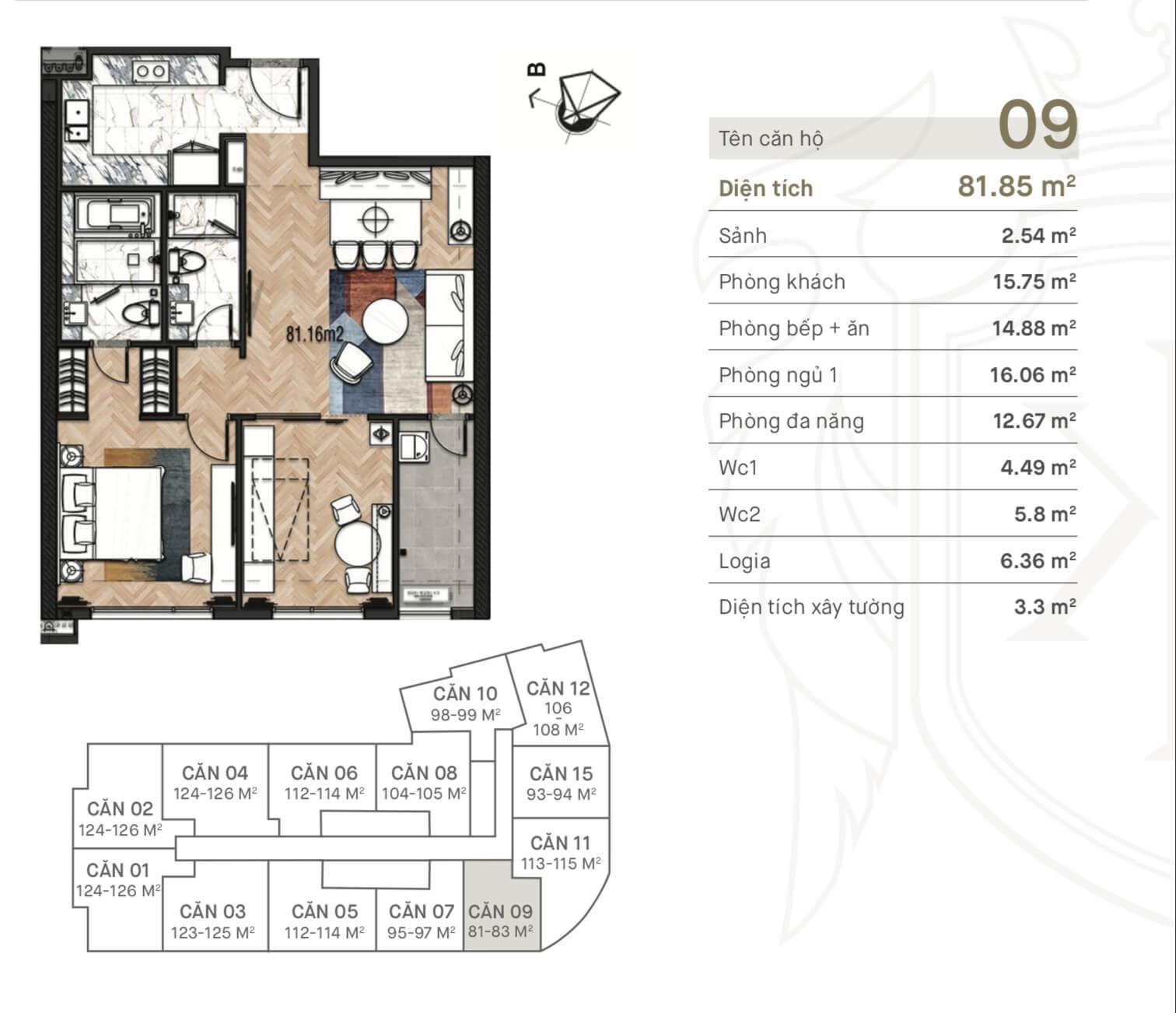 Thiết kế căn hộ 09 King Palace 108 Nguyễn Trãi