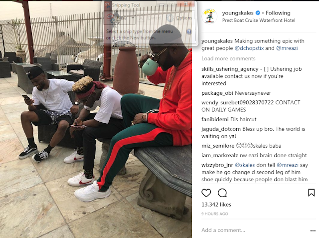 SKALES, MR EAZI AND DJ JIMMY JATT HANGS OUT TOGETHER