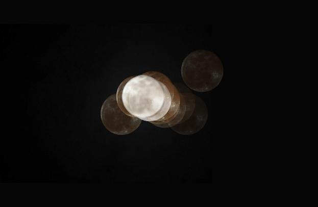 Full moon seen through cataract eyes