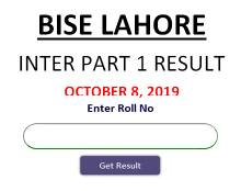 Lahore board 1st year result