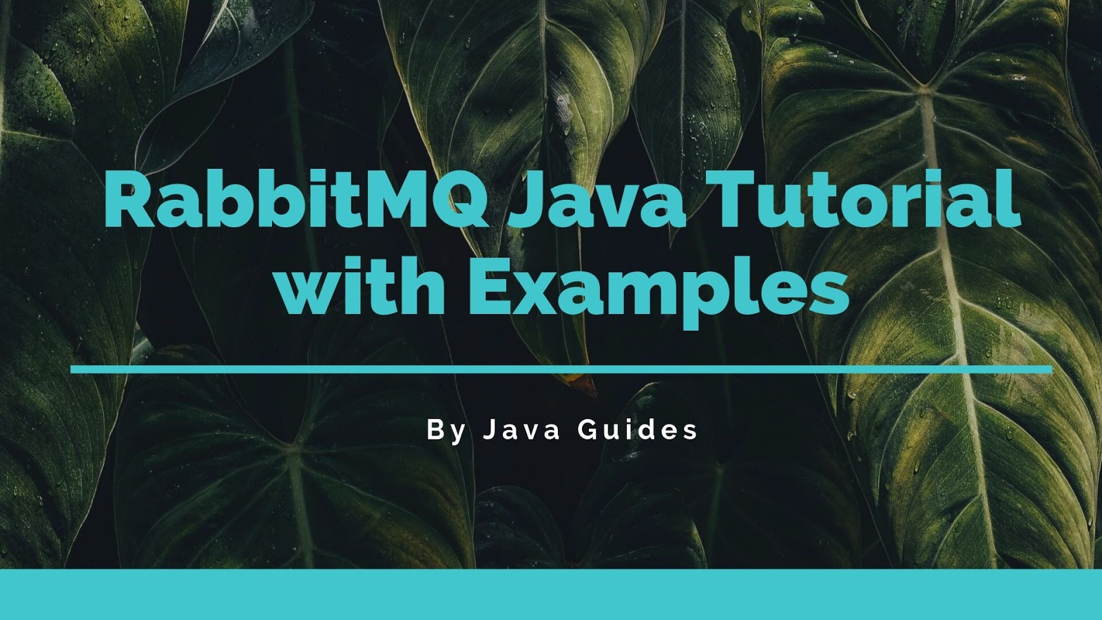 RabbitMQ Java Tutorial with Examples
