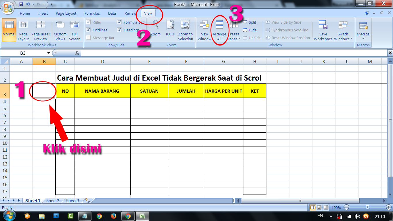 Cara Membuat Judul Di Excel Tidak Bergerak Saat Di Scrol Digeser Raumus Com