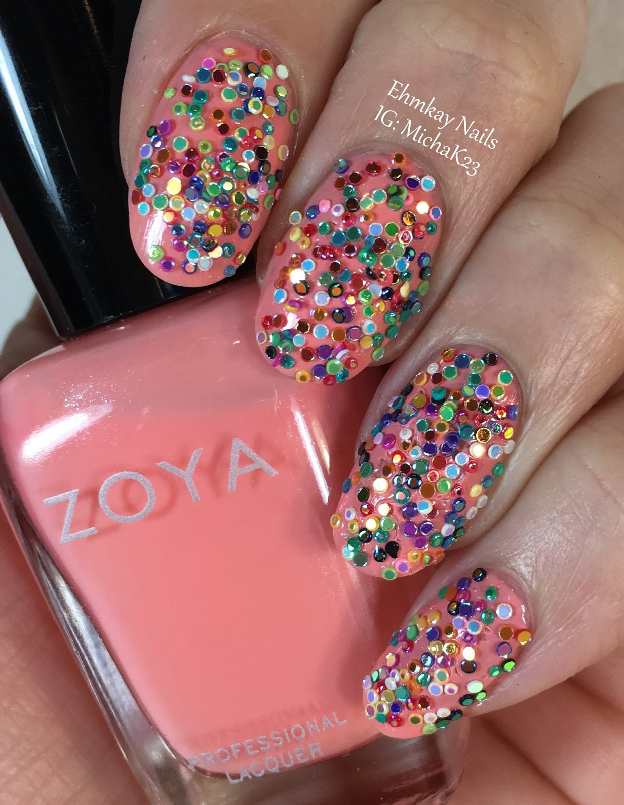 Nail Art Trends: Ehmkay Nails: Sprinkles Nail Art With Lady Queen Nail Gems