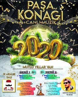 Paşa Konağı Cafe Van Yılbaşı Programı 2020 Menüsü