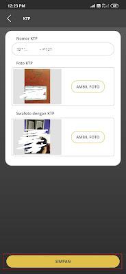 verifikasi ktp pada aplikasi Lakuemas
