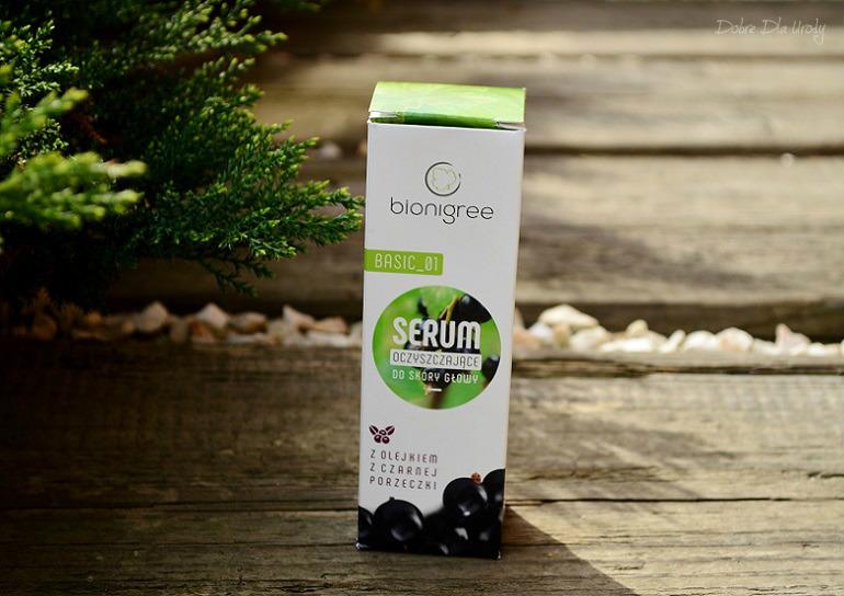 Serum oczyszczające do skóry głowy BIONIGREE BASIC_01 z olejkiem z czarnej porzeczki