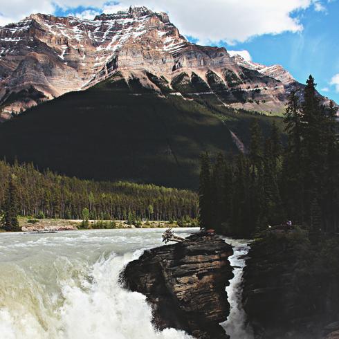 Athabasca Falls Jasper Alberta