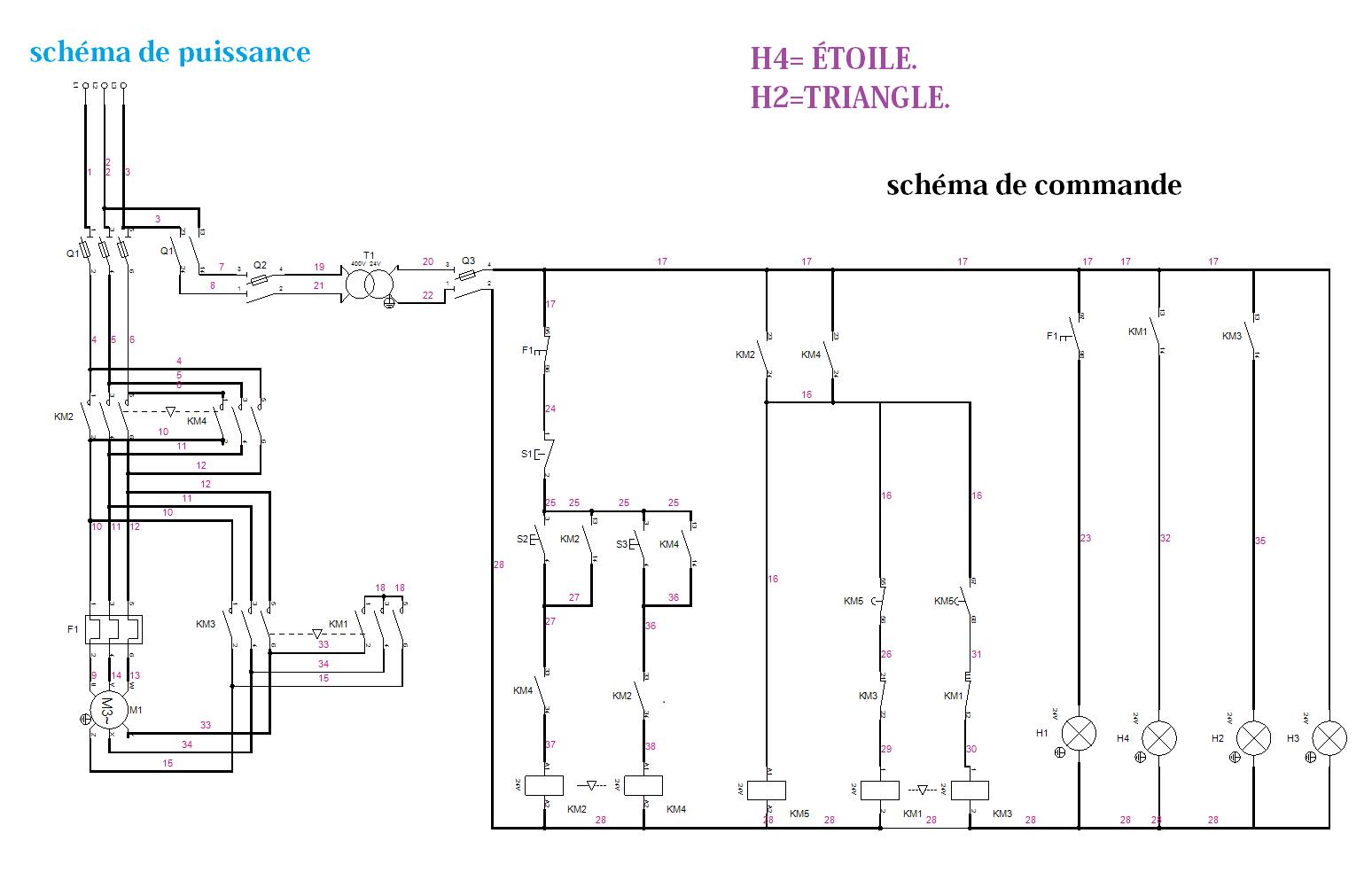 Démarrage Etoile Triangle Deux Sens De Marche Electromecanique